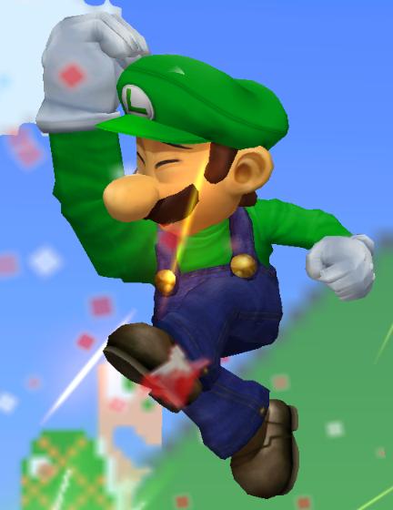 Super Smash Bros. Melee Luigi Jumping