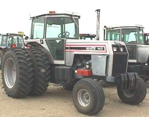 195 White Tractor : White w duals