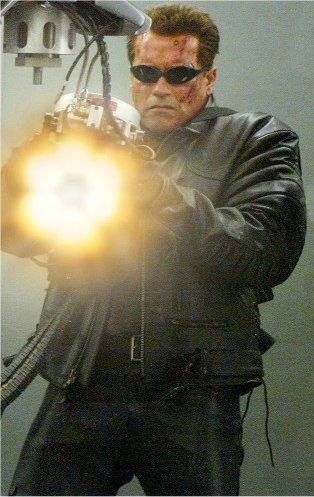 T 850 Terminator Image - T-850 getting the t-1's hand.jpg - Terminator Wiki