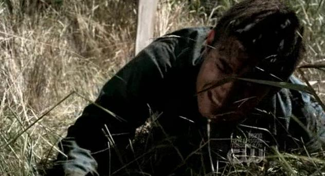 Dean climbs out of his coffin Supernatural Dean In Hell