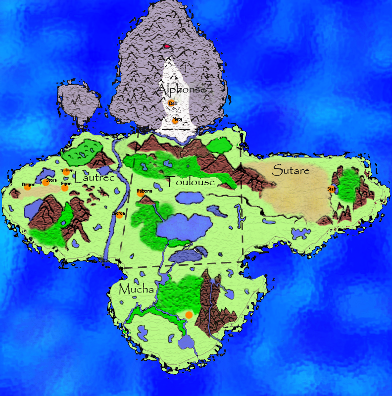 Claymore Island Map
