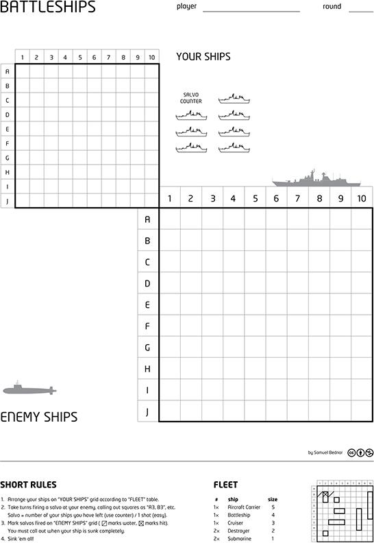 Q=printable Battleship
