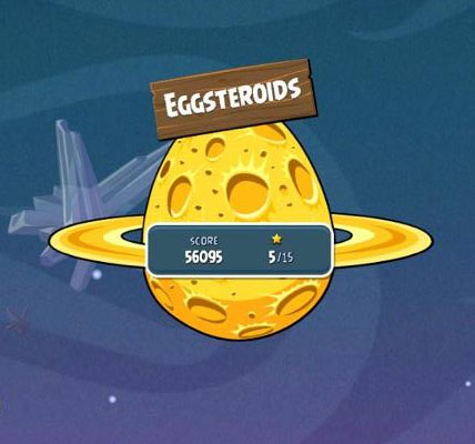 eggsteroid levels in angry birds space