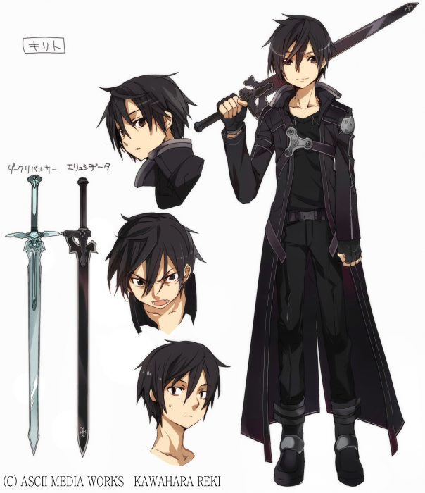 Sword art online male characters pictures have the sword at