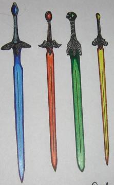 Right  Eragon s Sword Brisingr  Murtagh s Sword Zar roc  Arya s Sword    Falchion Sword Eragon