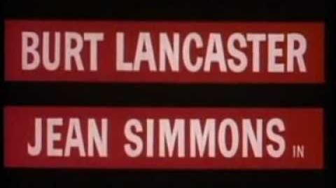 Burt Lancaster ELMER GANTRY TRAILER 1960