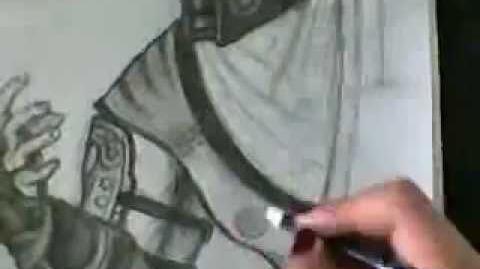 Drawing Sub-Zero Mortal Kombat 9 2011