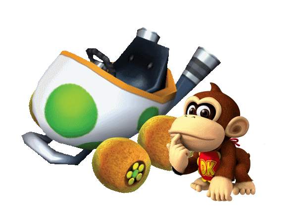 Baby DK, the Jungle King! is the first level of World 2 in Yoshi's Island DS. This level introduces Baby Donkey Kong. This level begins with an Ukiki kidnapping Baby Peach and Baby Donkey Kong falling onto Yoshi 's back.