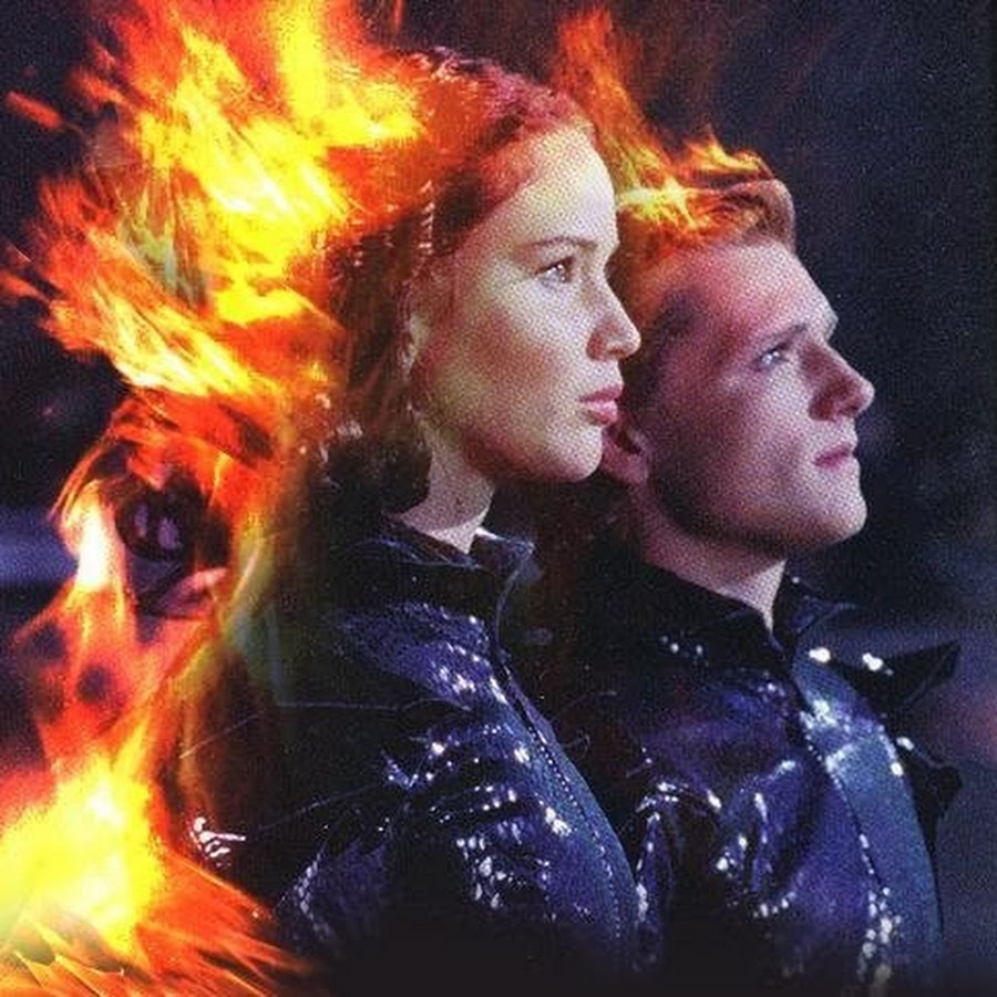 Peeta and Katniss join hands
