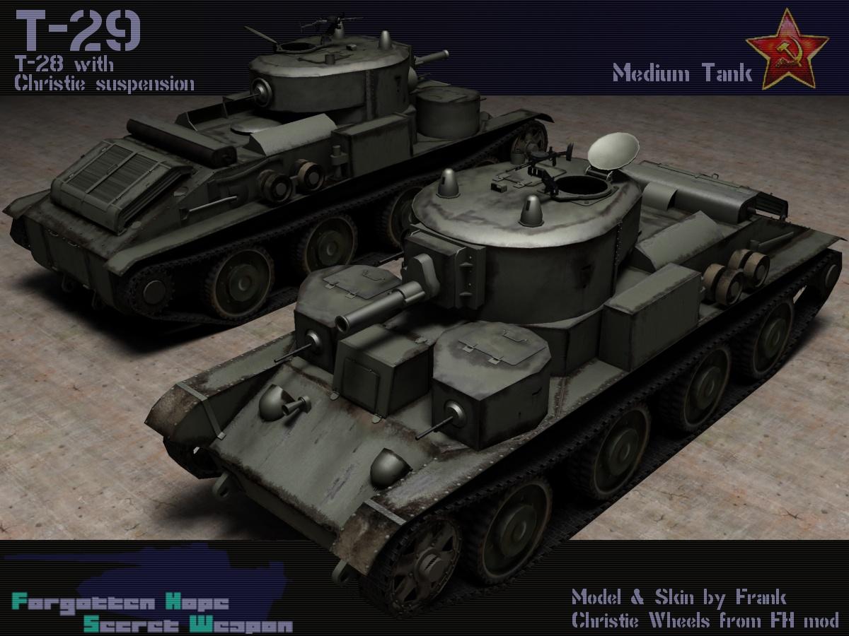 T 29 Medium Tank Forgotten Hope Secret Weapon Wiki
