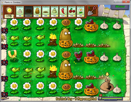 Survival plants vs zombies walkthrough endless escape