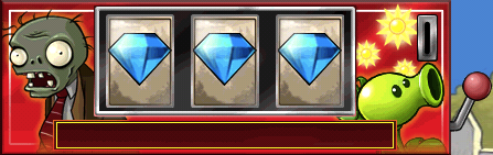 Plants vs zombies how to get three diamonds in slot machine