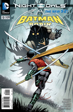 Cover for Batman and Robin #9 (2012)