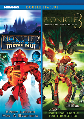 image bionicle the movie 2 and 3 double feature front