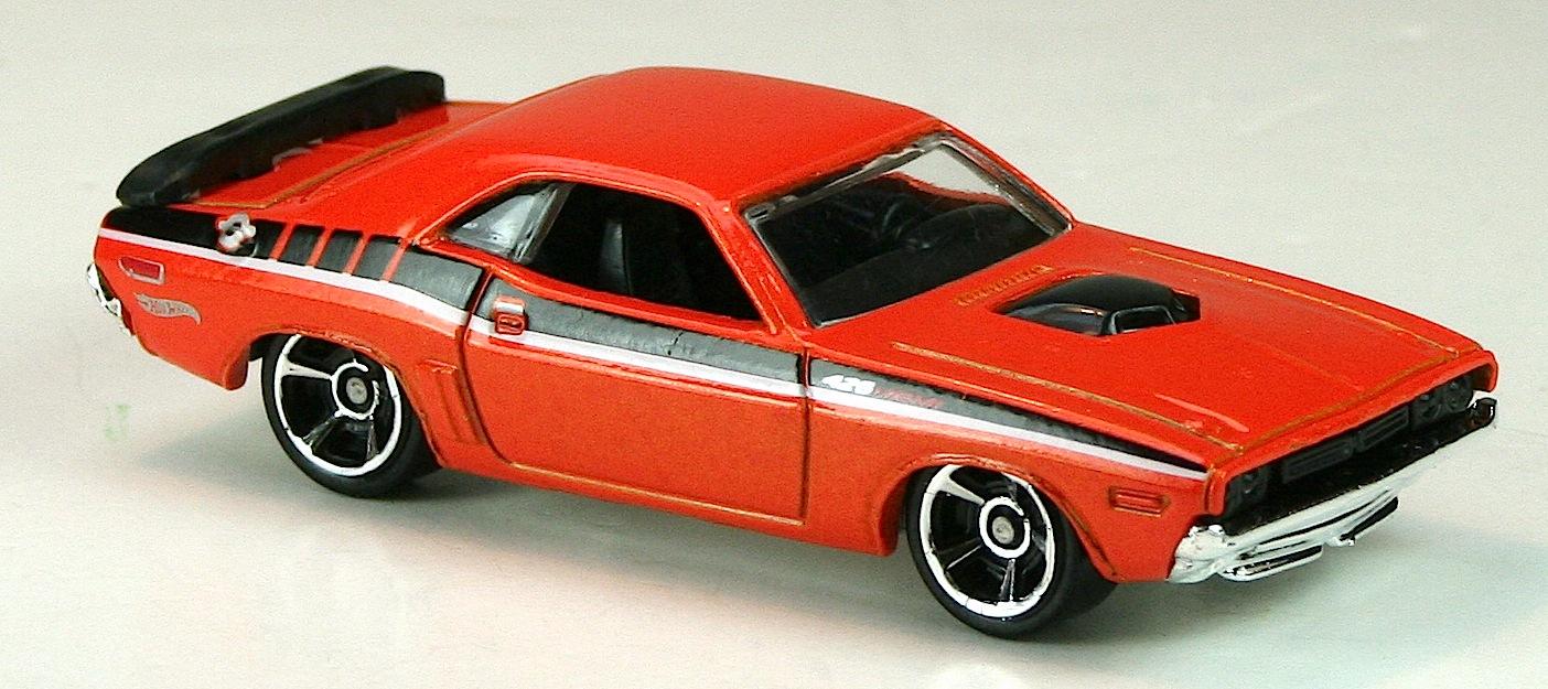 Orange Dodge Challenger With Rims
