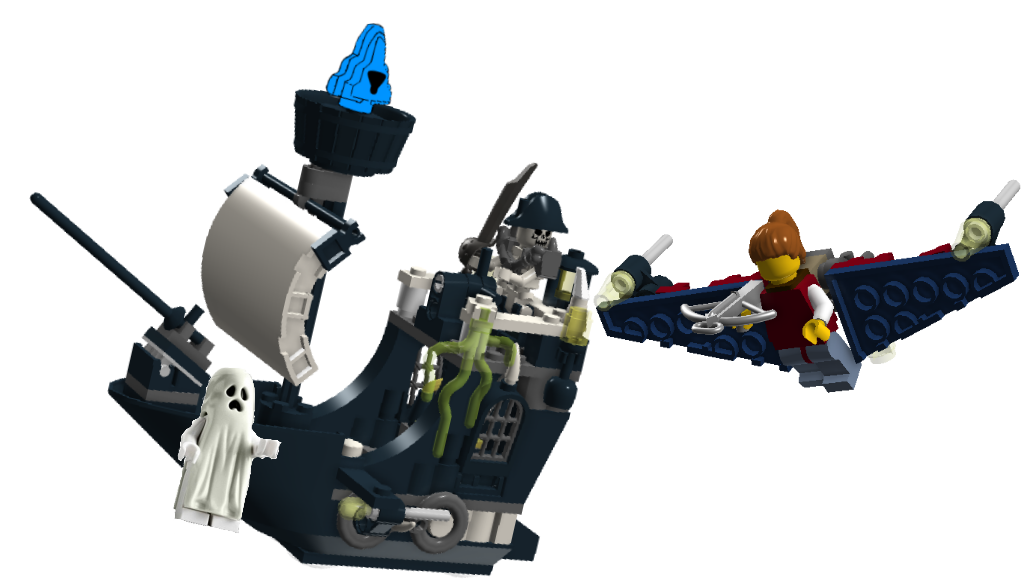 Pirate Ship Background Lego Ghost Pirate Ship