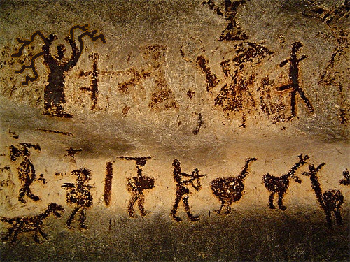 Man Cave Paintings : Image slender man cave painting g creepypasta wiki