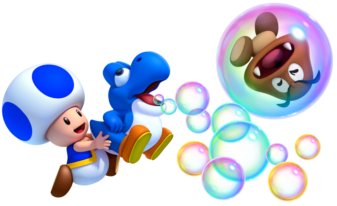 Image - Baby Blue Yoshi and Blue Toad MarioWiiU.png ...