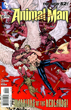 Cover for Animal Man #10 (2012)