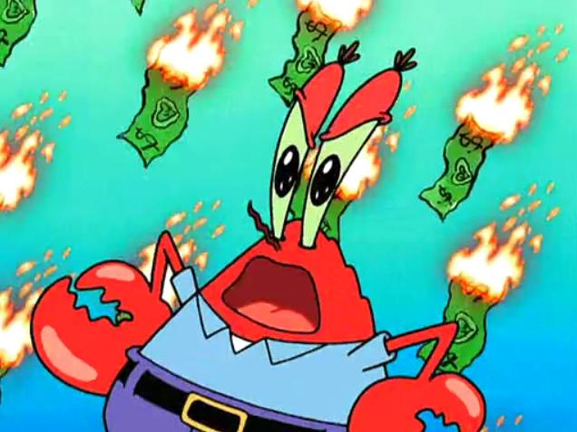 Mr krabs 5 Mr Krabs Money Bath