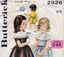 Butterick 2926 A
