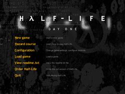 Half life day one