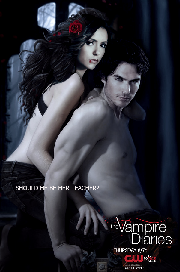 Image - Damon-Elena-Season-4-Poster-the-vampire-diaries-tv ...  Vampire Diaries Elena And Damon Season 4