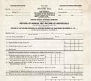 1913 Inaugural Federal Tax Form
