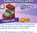Summore Printing Machine