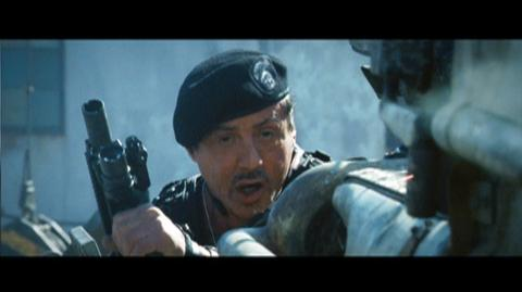 The Expendables 2 (2012) - Clip Water Tower and Motorcycle
