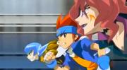 Gingka vs espiral Equipe Força