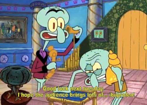 Squilliam and Squidward  Squidward Screaming At Spongebob