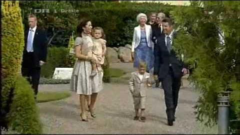 Crown Princely Family at Prince Henrik's Christening (2009)