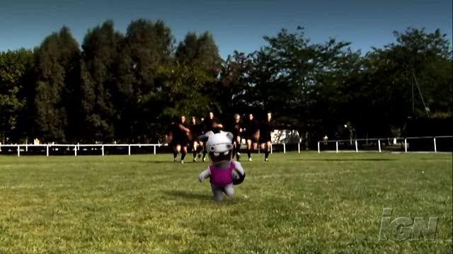 Rayman Raving Rabbids 2 Nintendo Wii Trailer - Rugby