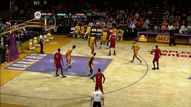 NBA Live 09 Xbox 360 Gameplay - Fadeaway Shot