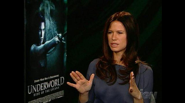 Underworld Rise of the Lycans Movie Interview - Rhona Mitra