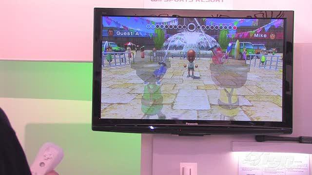 Wii Sports Resort Nintendo Wii Gameplay - E3 09 Slice and Dice (Off Screen)