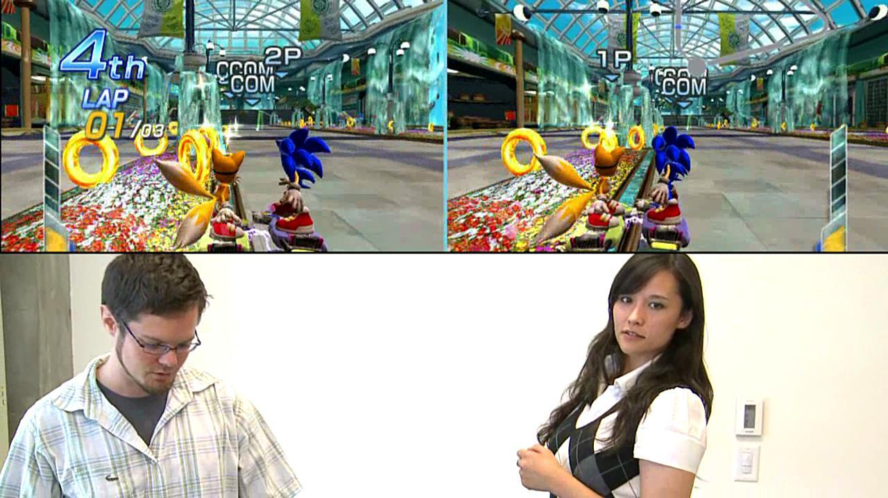 Sonic Free Riders Tag Mode Touching Gameplay