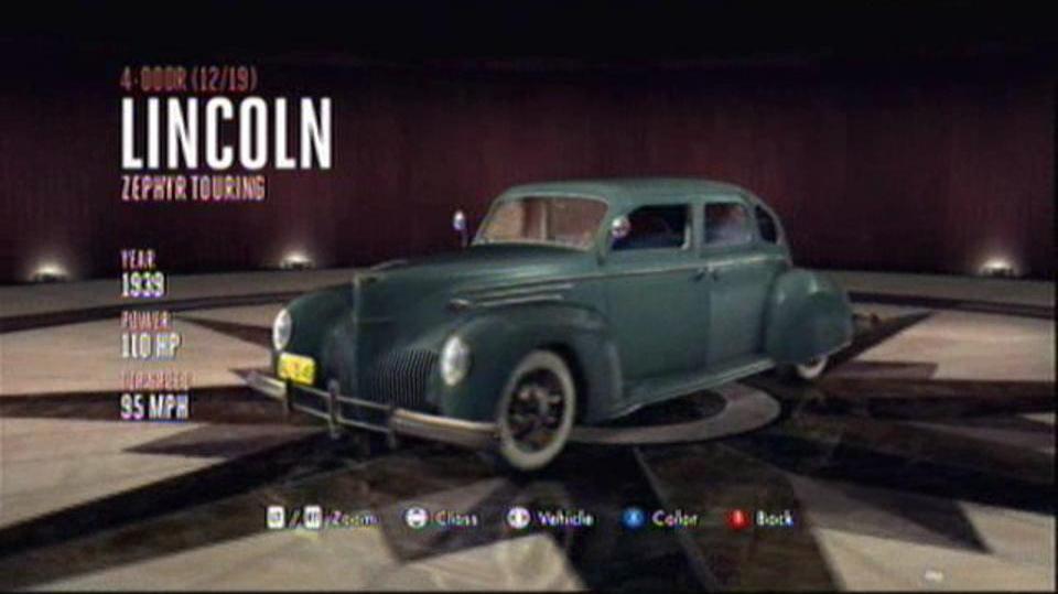 L.A. Noire Hidden Vehicles 4-Door - Lincoln Zephyr Touring - Westlake