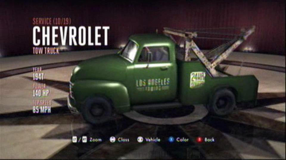 L.A. Noire Hidden Vehicles Service - Chevrolet Tow Truck - Wilshire