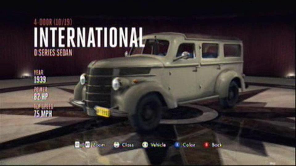 L.A. Noire Hidden Vehicles 4-Door - International D Series Sedan - East Downtown
