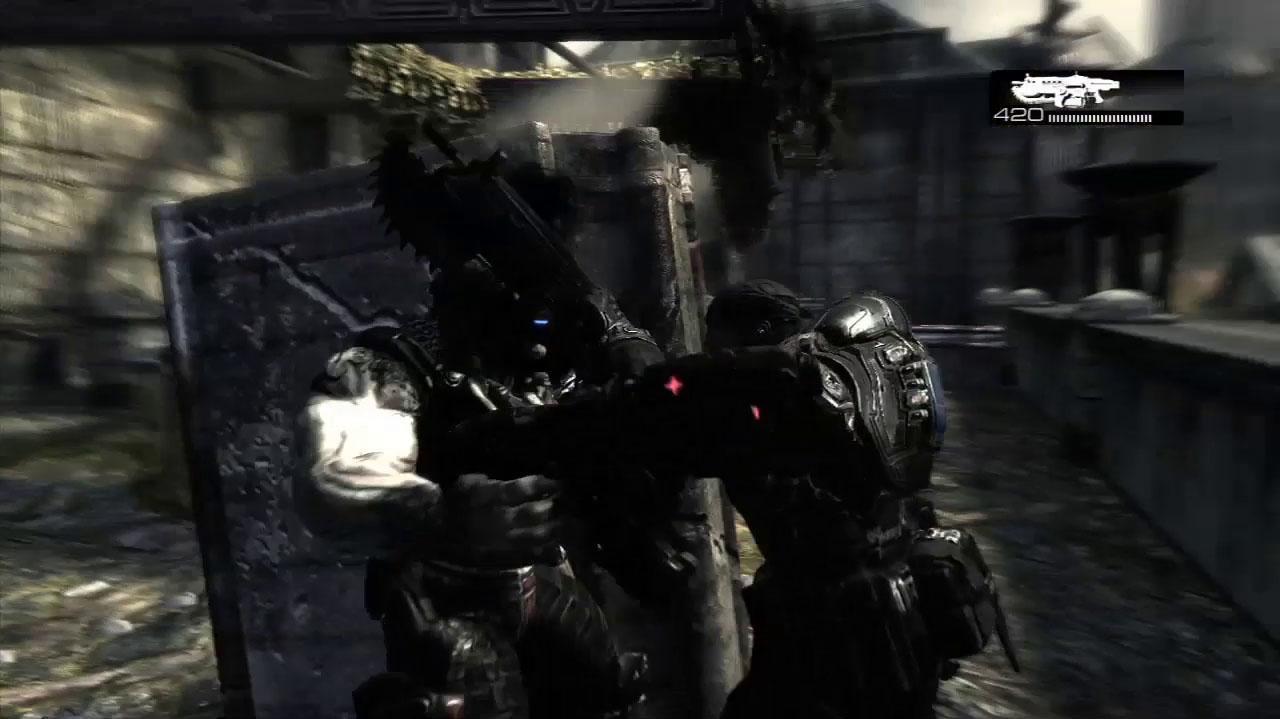 Gears of War Chainsaw Kill