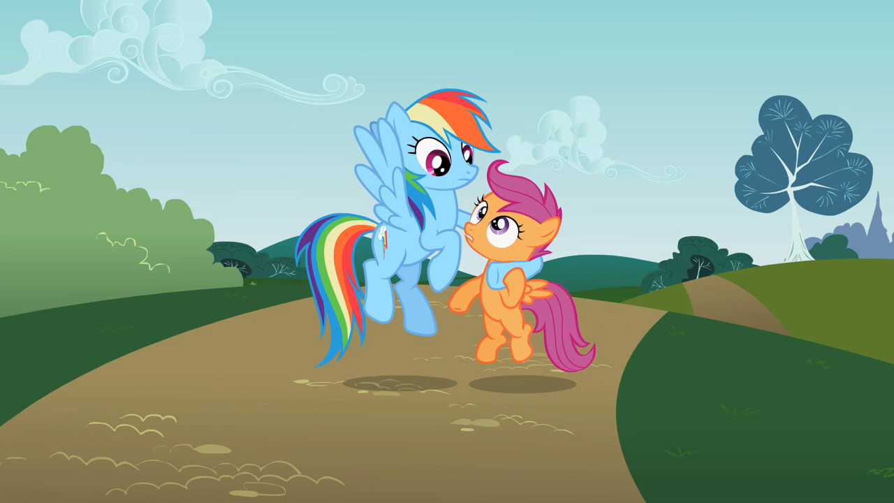 Scootaloo And Rainbow Dash Sisters