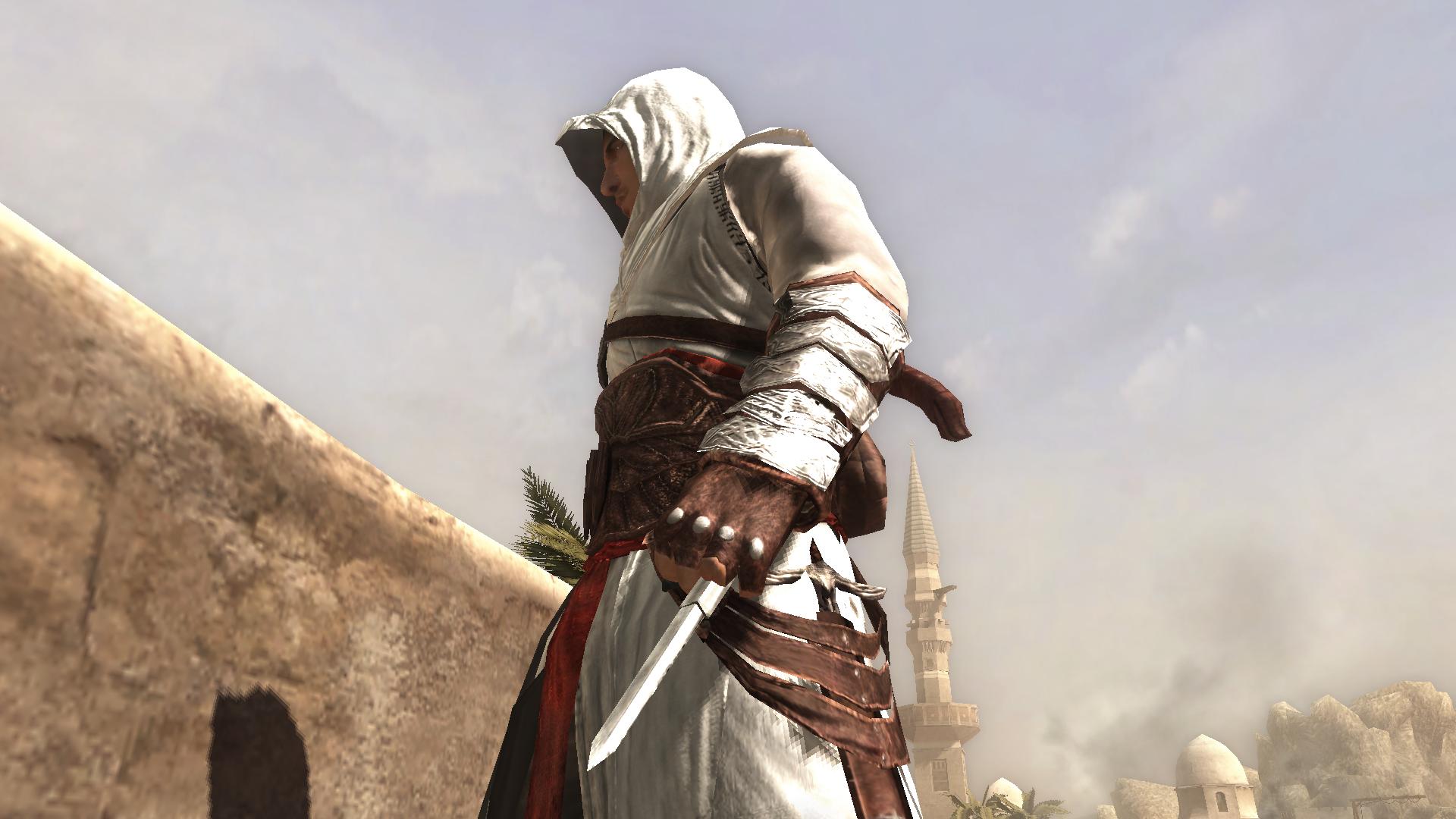 Hidden Blade Types Altaïr With His Hidden Blade