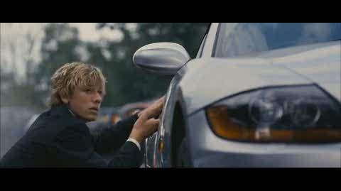 Alex Rider Operation Stormbreaker - alex discovers bullet holes in car