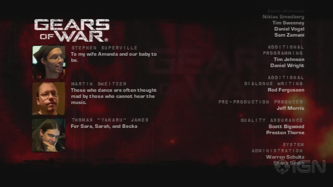 Gears of War - Credits - Gameplay