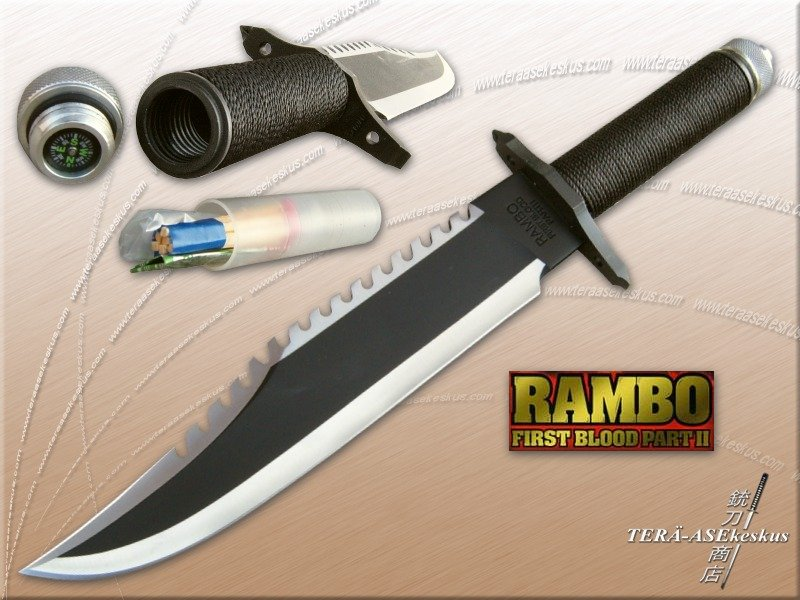Rambo s knife from First Blood Part 2Rambo 1 Knife