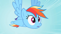 Rainbow Dash flying in her dream S2E07