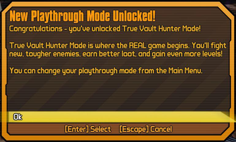 True Vault Hunter Mode - Borderlands Wiki