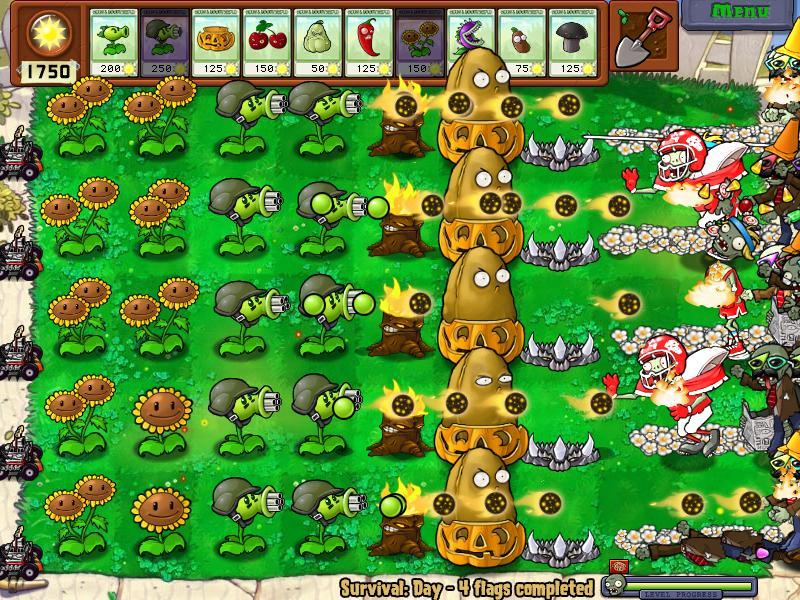 Survival mode plants vs zombies strategies